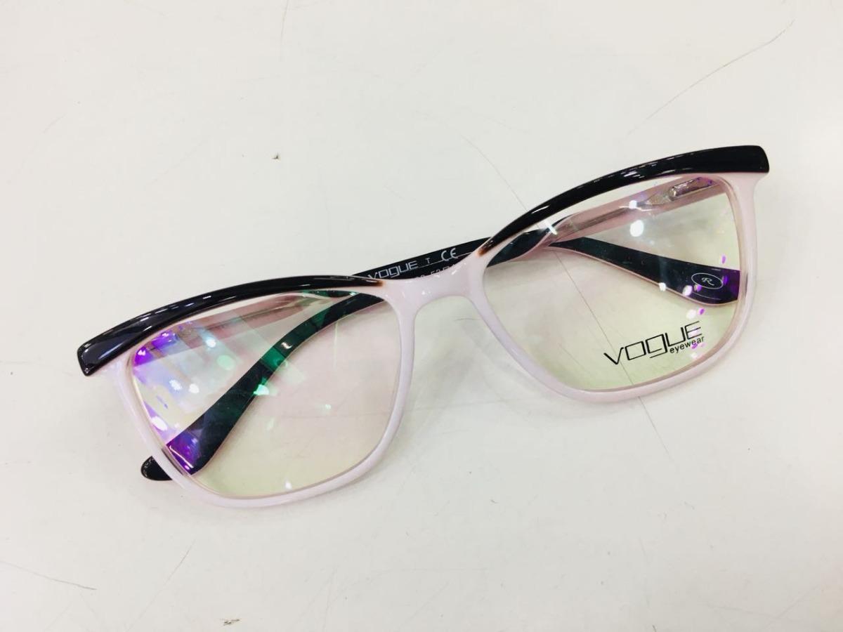d585fe99a15a1 armação para grau vogue óculos rosa e preto grife-vg106. Carregando zoom.