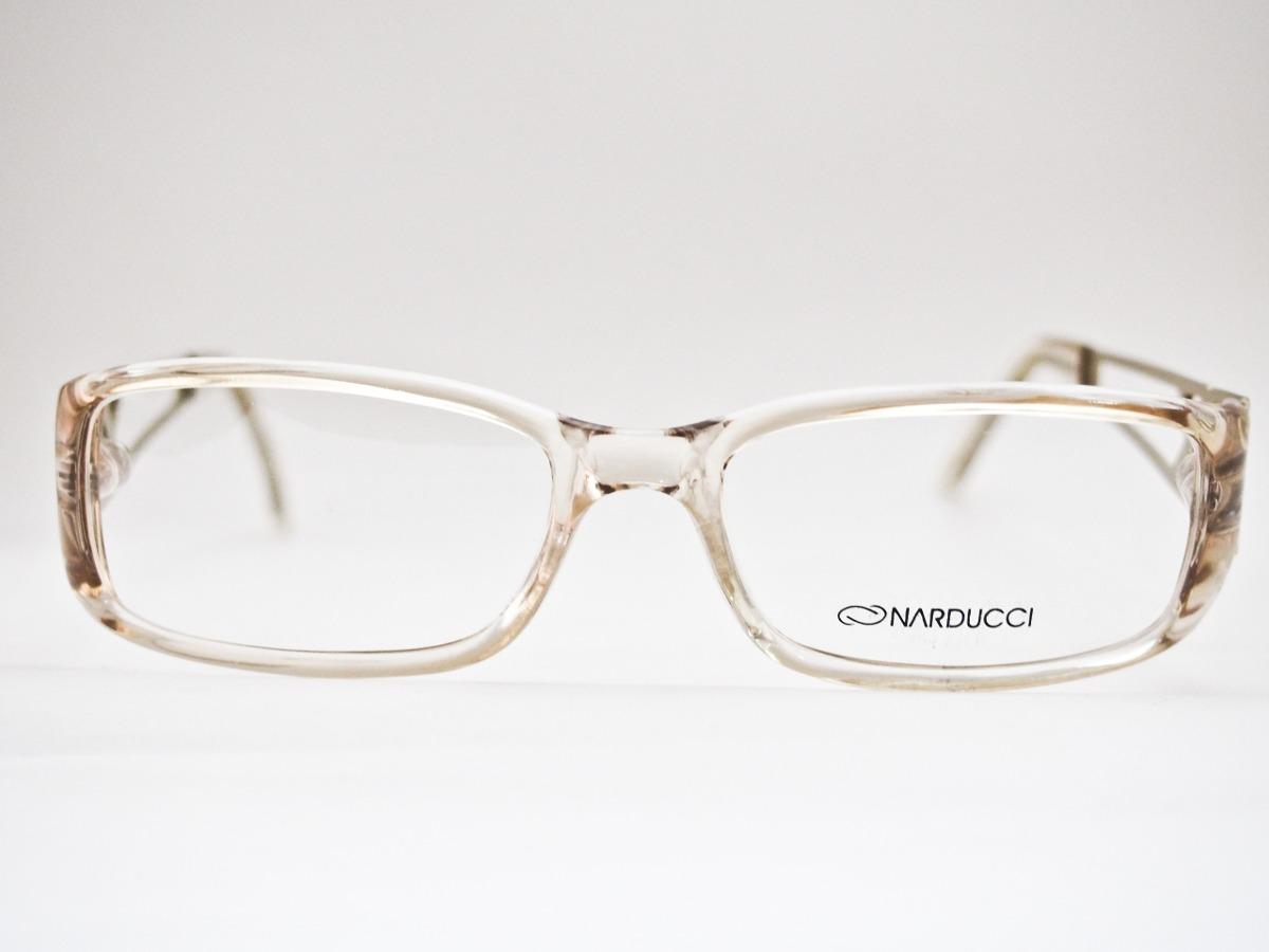 armação para óculos acetato narducci transparente e dourada. Carregando  zoom. 3621277250