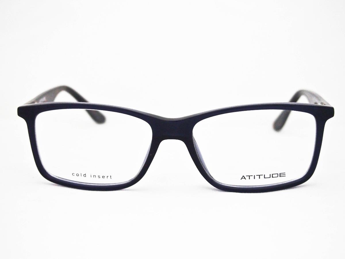 c56bf12295fd9 armação para óculos atitude at4085 masculino azul e marrom. Carregando zoom.