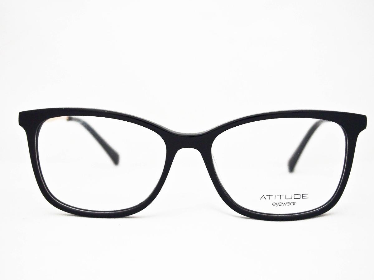 0f5c567d374fd armação para óculos atitude at6177 feminino preto. Carregando zoom.