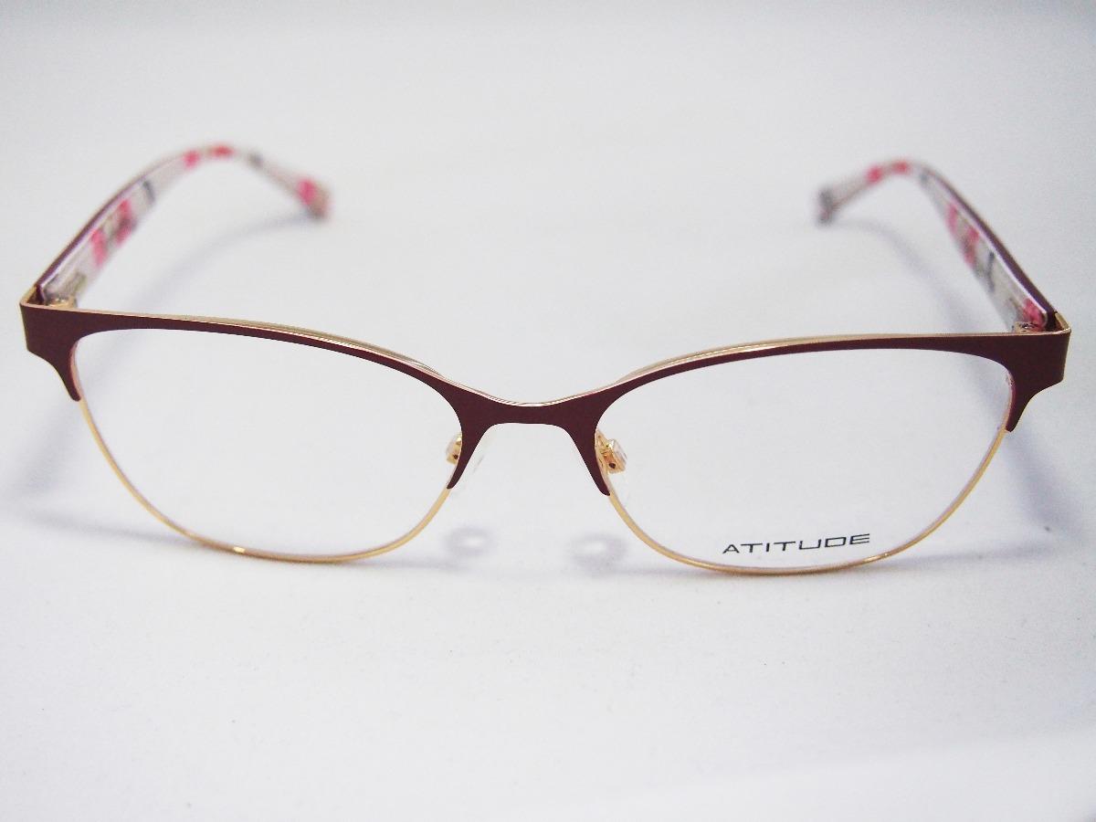 bbac83e21 Armação Para Óculos Atitude Feminino At1645 Original Nfe - R$ 170,00 ...