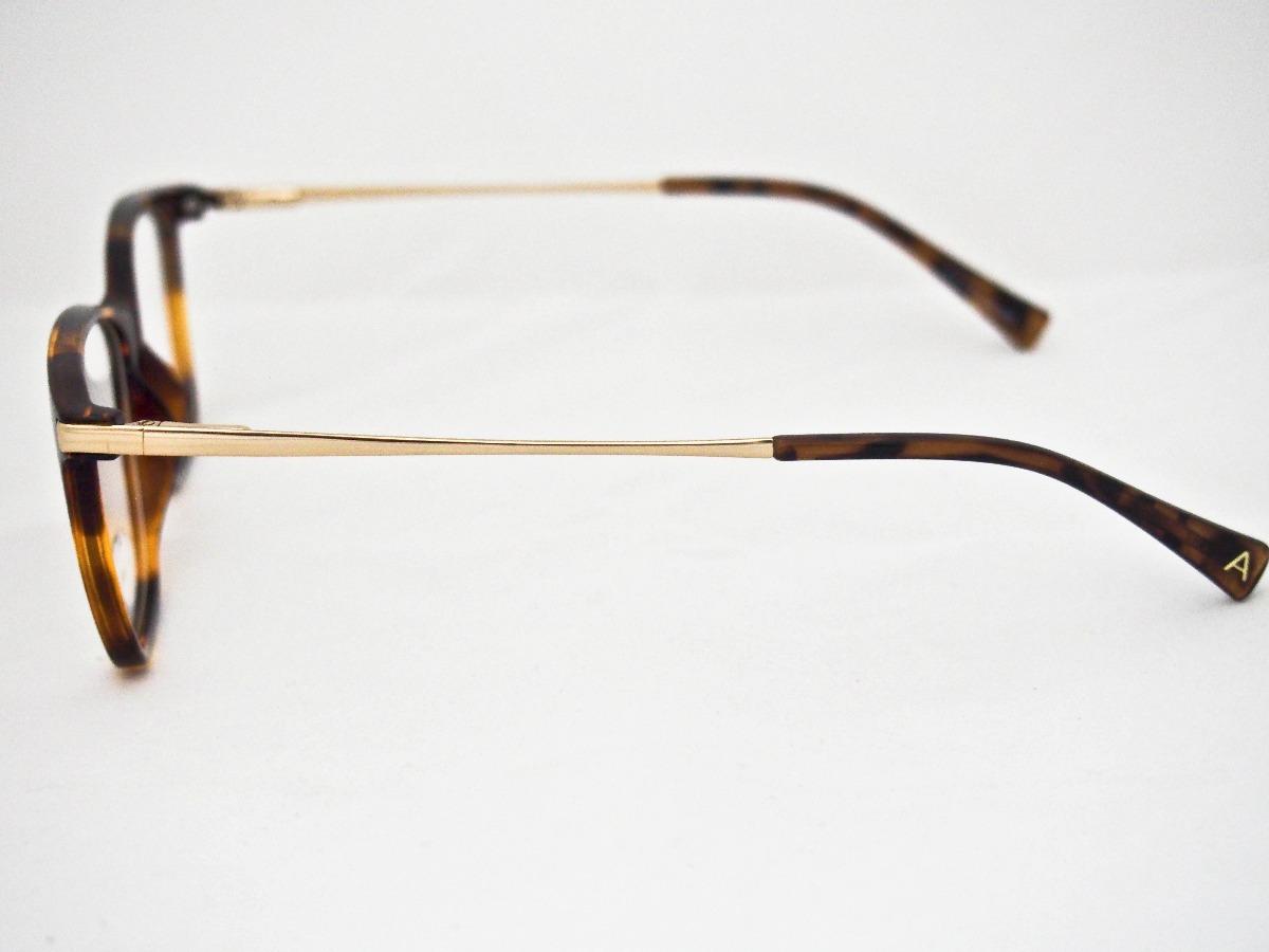 837ce24d24356 armação para óculos atitude feminino at4038 marrom e dourado. Carregando  zoom.