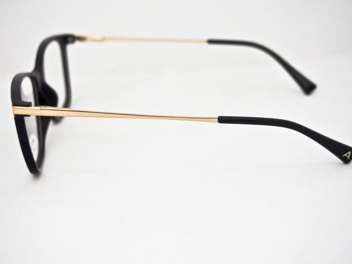 796e59d90 armação para óculos atitude feminino at4038 preto e dourado. Carregando zoom .