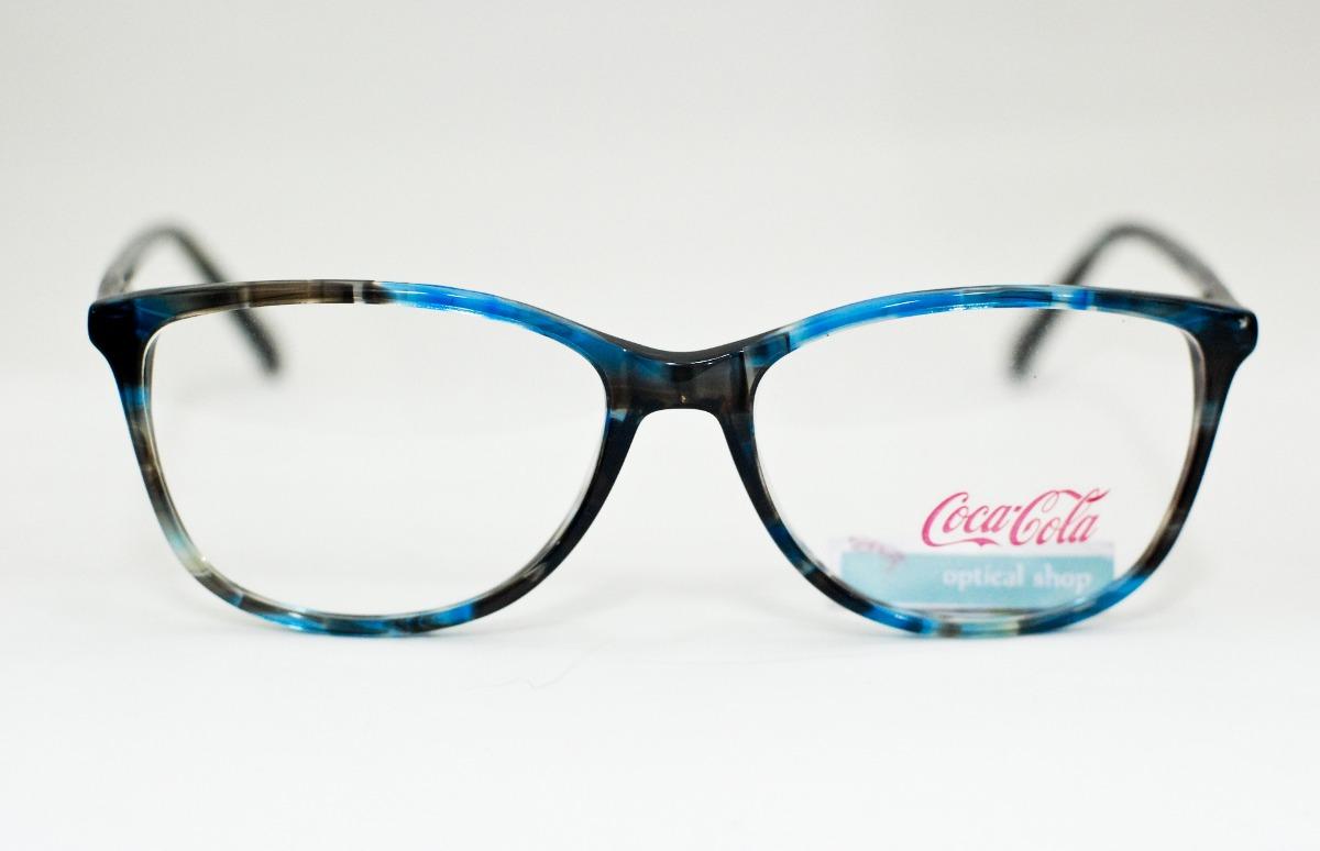 302c91dddb556 Armação Para Óculos Coca Cola Feminina Cc2 3988 - R  298,00 em ...