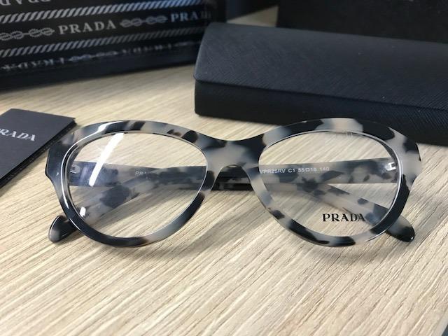 8440fb8559522 Armação Para Óculos De Grau Acetato Prada Vpr25 Havana - R  300,00 ...