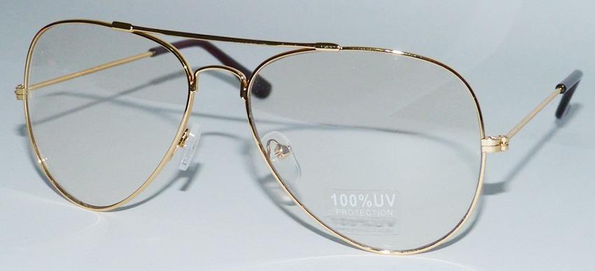 aae21bf37 armação para óculos de grau aviador dourado vintage retro. Carregando zoom.