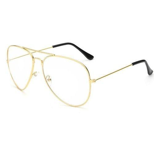 7ef4bdede Armação Para Óculos De Grau Aviador Retrô Dourado Vintage - R$ 34,99 ...