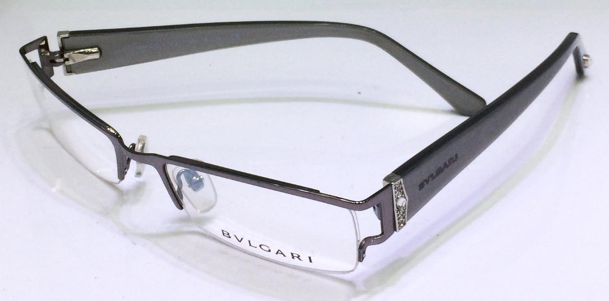 0f1c8dc892419 armação para óculos de grau bvlgari cinza strass linda. Carregando zoom.