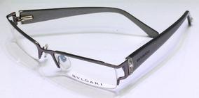 9ecb8bc24 Armação Para Óculos De Grau Bvlgari Cinza Strass Linda