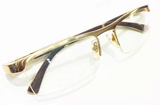 14c172fd5302a Armação Para Oculos De Grau Cartier Acetato Meio Aro Dourado - R ...