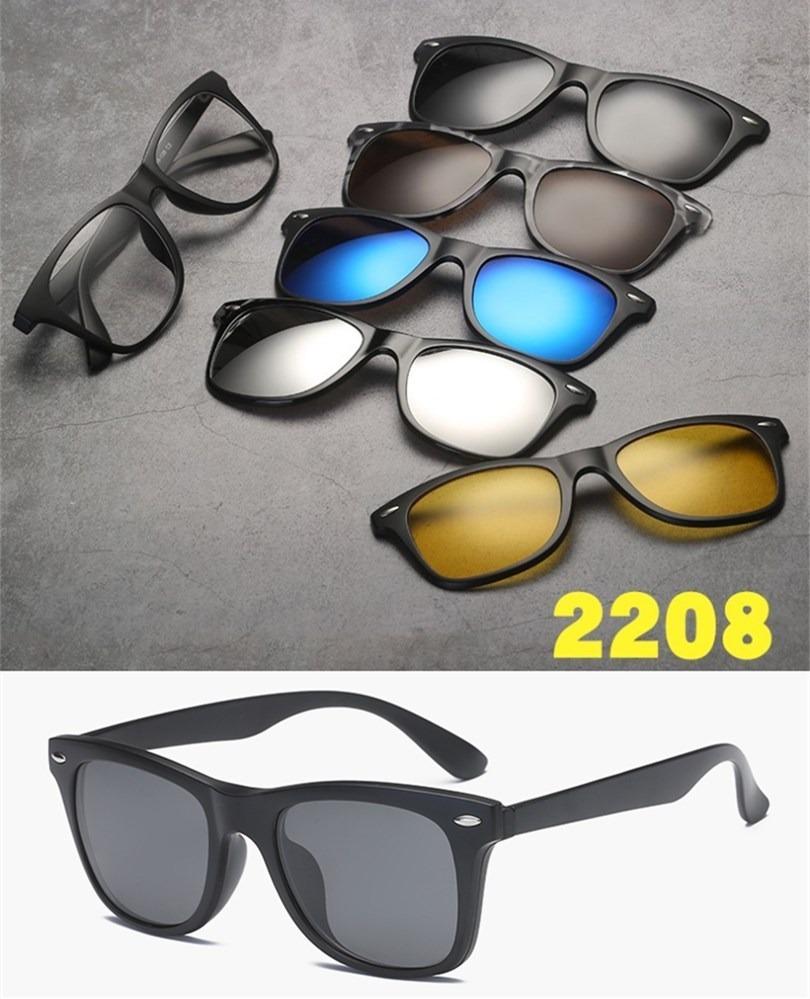 a392a8815fc79 armação para óculos de grau clip on 6 em 1 polarizado uv 400. Carregando  zoom.
