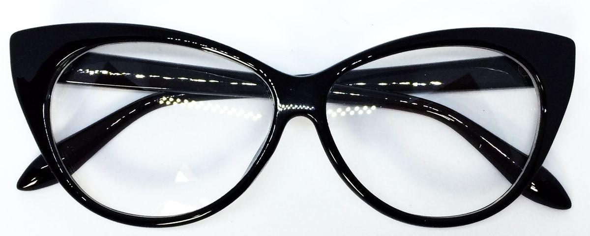 7705d8267704d armação para óculos de grau com formato de gatinho - preto. Carregando zoom.