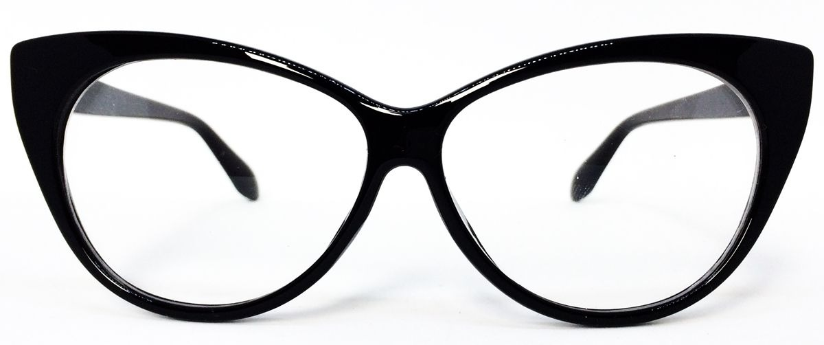 ea6d86a7bf1f1 armação para óculos de grau com formato de gatinho - preto. Carregando zoom.
