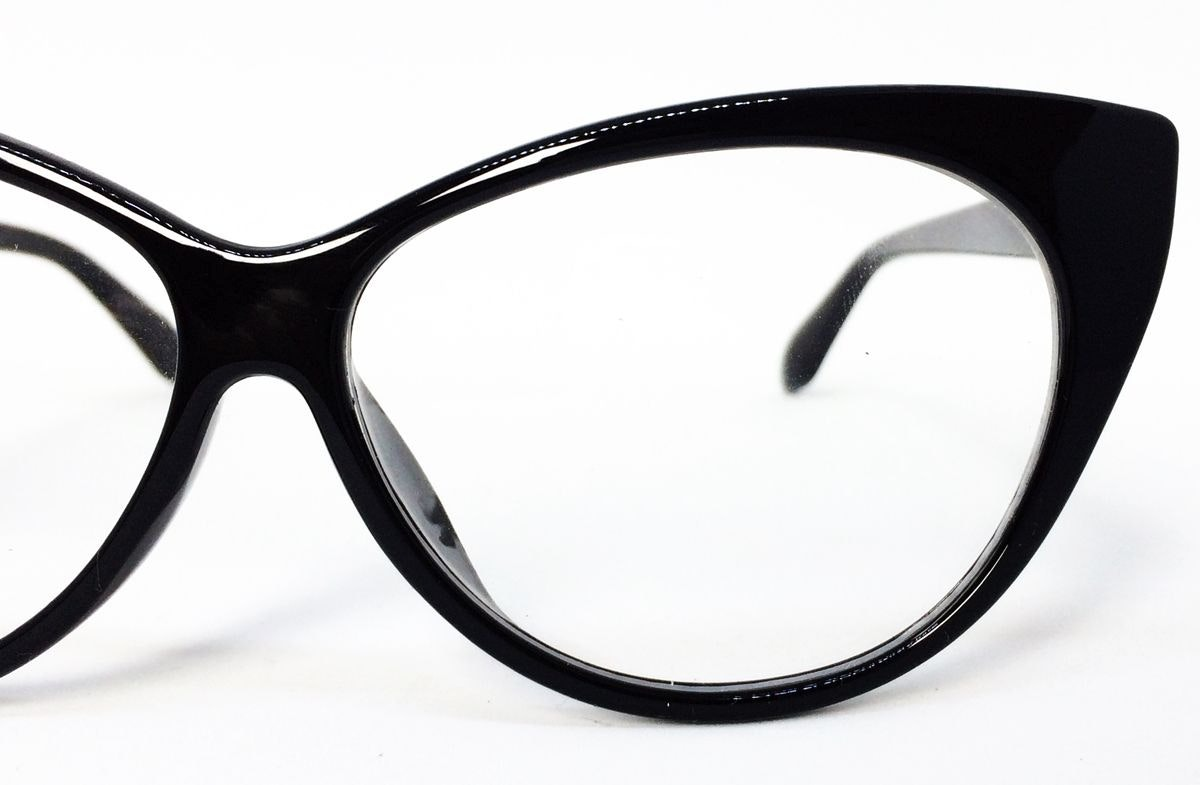 14c485c7f Armação Para Óculos De Grau Com Formato De Gatinho - Preto - R$ 39,33 em  Mercado Livre