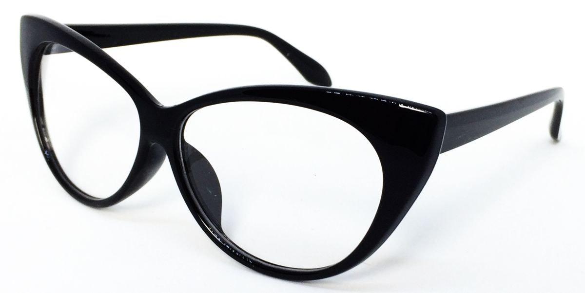 92758ce53 Armação Para Óculos De Grau Com Formato De Gatinho - Preto - R$ 39 ...