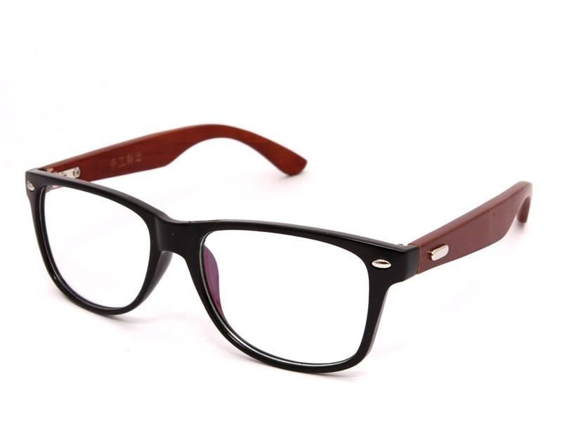 b961adc25 Armação Para Óculos De Grau Com Hastes De Madeira - R$ 129,90 em ...