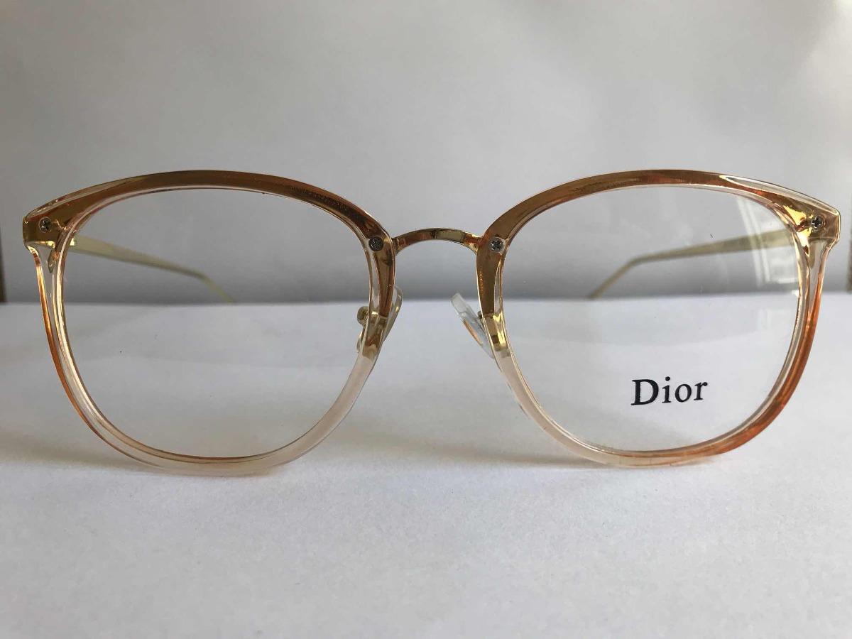 armação para óculos de grau dior quadrado dourado feminino. Carregando zoom. 96908bb746