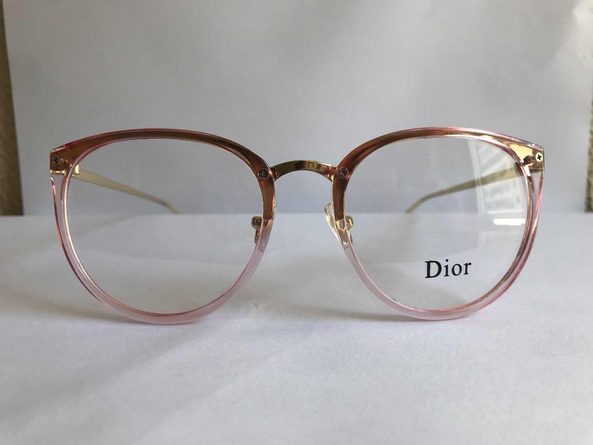 ad7b5df1c armação para óculos de grau dior rosa retrô redondo feminino. Carregando  zoom.