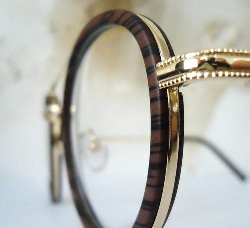 a935170d0958d Armação Para Óculos De Grau Dourado Com Detalhe Nos Aros - R  79