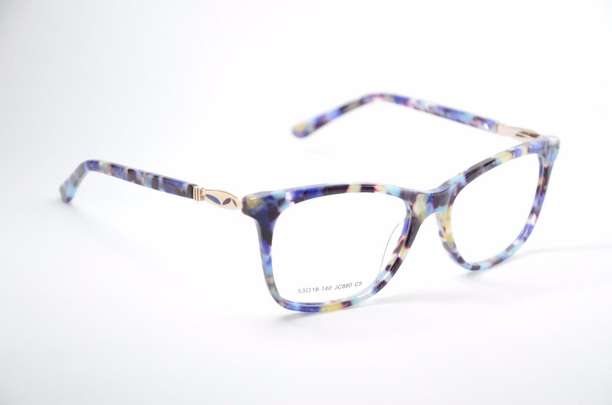 29dffdd97 armação para óculos de grau feminino rajado diferente jc880. Carregando zoom .