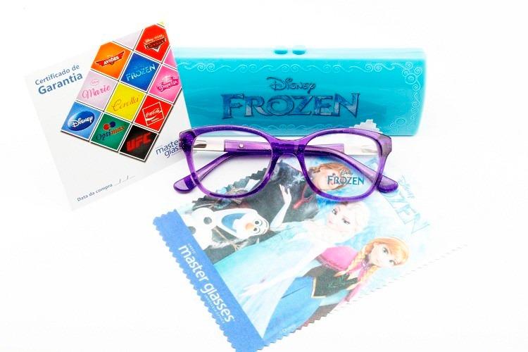 904d306900344 Armação Para Óculos De Grau Infantil Disney Frozen - 3679 - R  299 ...