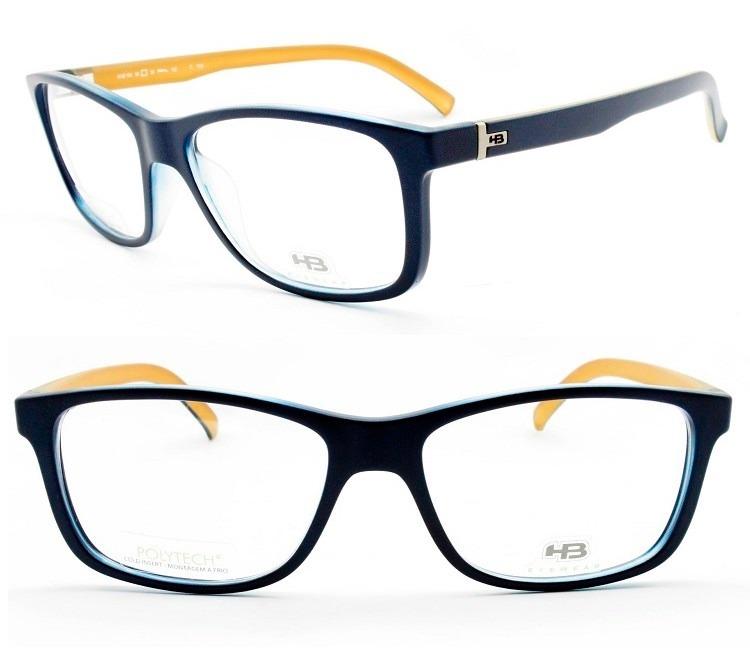 2c455c444 Armação Para Óculos De Grau Masculina Hb Polytech M 93104 - R$ 269 ...