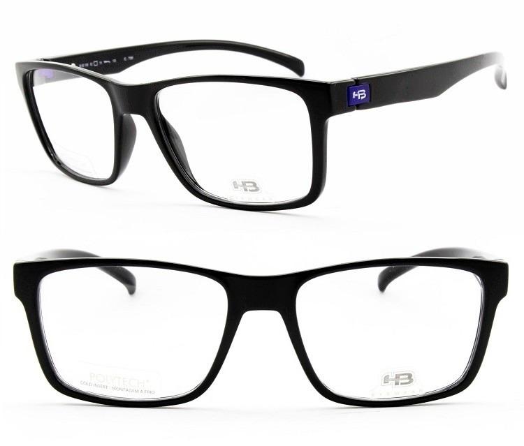 8a3a6d903cba3 armação para óculos de grau masculina hb polytech m 93108
