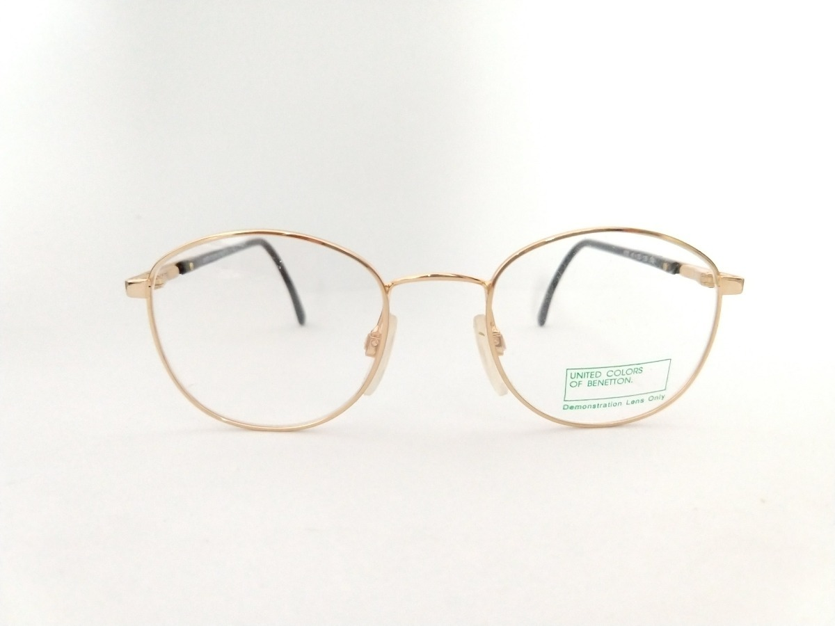 986bf1407 armação para óculos de grau metal dourado original benetton. Carregando zoom .