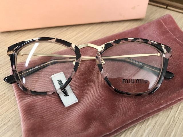 206616e149277 Armação Para Óculos De Grau Miu Miu Gatinho Tigrado - R  249,90 em Mercado  Livre