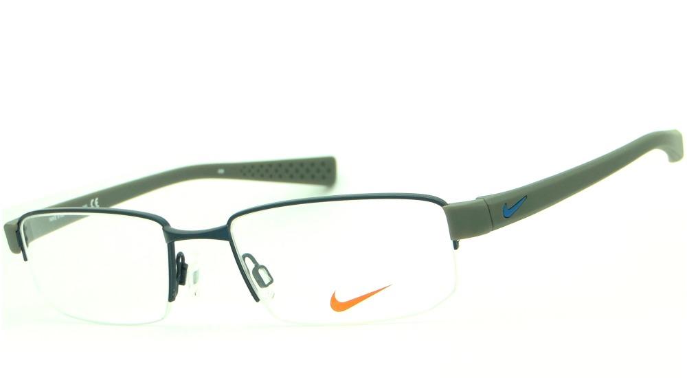 42500790429b4 armação para óculos de grau nike 8160 405 masculina esporte. Carregando zoom .