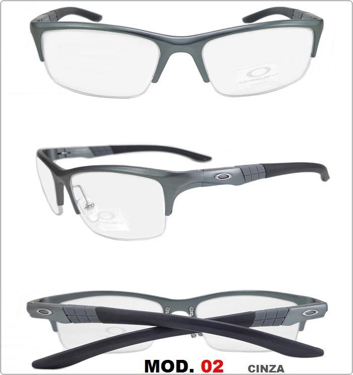 3b443bfdb Armação Para Óculos De Grau Oa 2860 Aluminio Frete Gratis - R$ 139 ...
