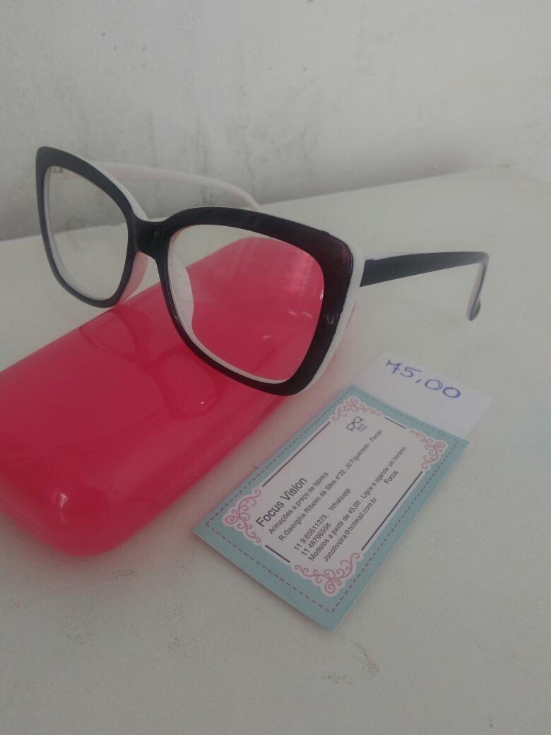 Armação Para Óculos De Grau Promoção - R  55,00 em Mercado Livre 65068f48a4
