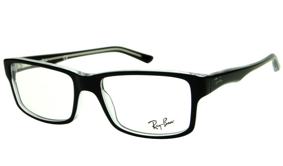 110f5ffc0 armação para óculos de grau ray ban rb 5245 preta masculina. Carregando  zoom.
