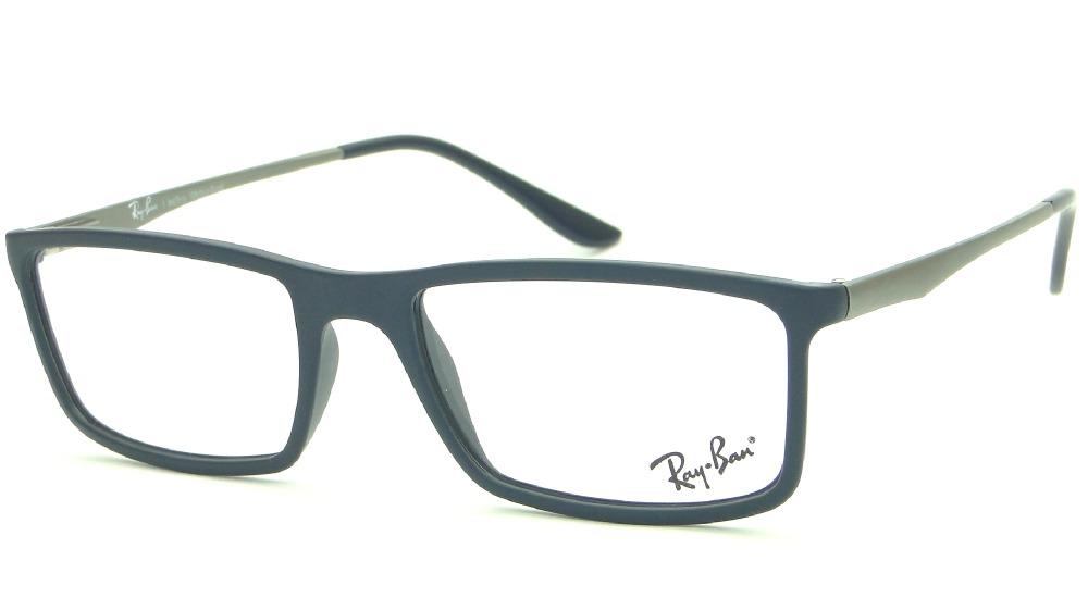 042aed0cf7141 Armação Para Óculos De Grau Ray Ban Rb 7026l 5412 Masculina - R  299 ...