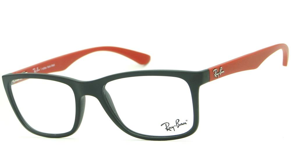 armação para óculos de grau ray ban rb 7027l retrô masculina. Carregando  zoom. c374536937