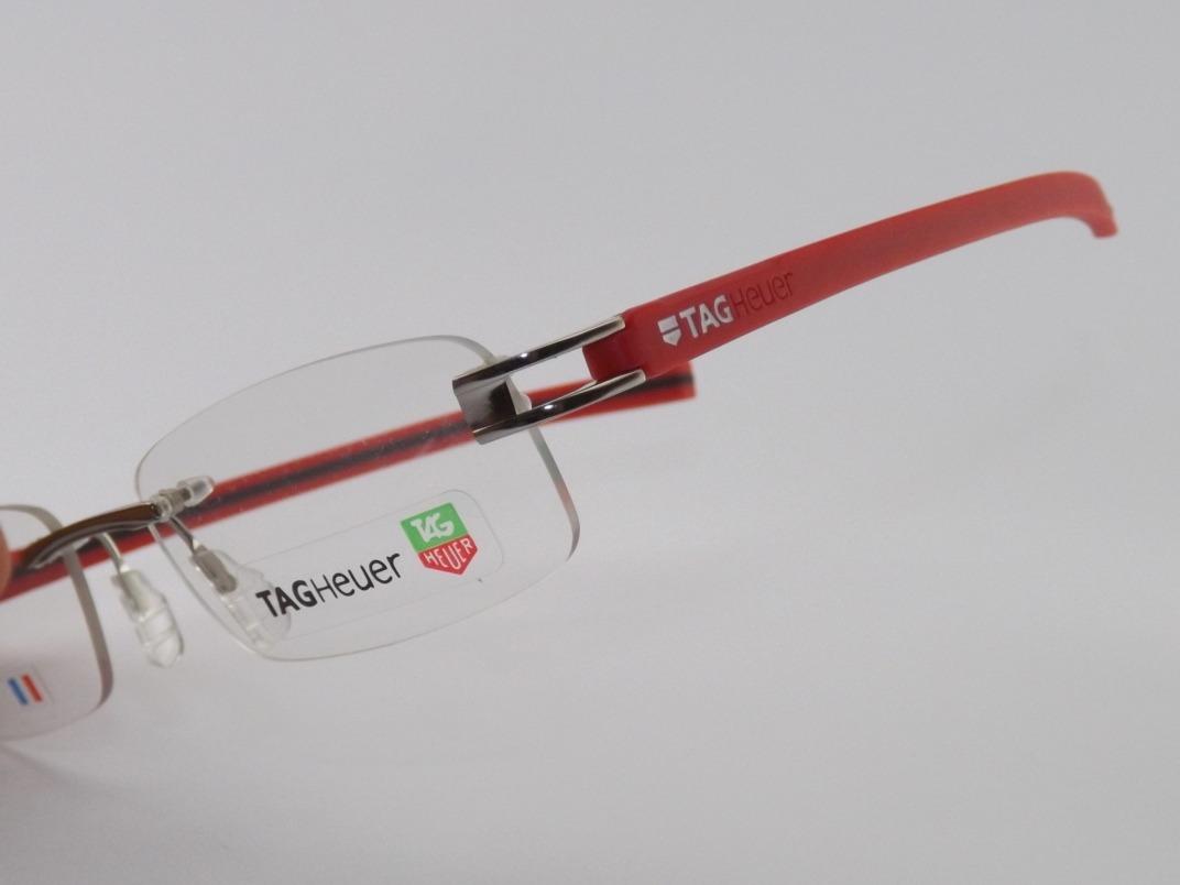 armação para óculos de grau tag heuer 7644 vermelho vip. Carregando zoom. 6f706fd6ba