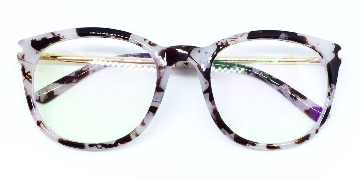 45a9c872ac986 armação para óculos de grau vintage - branco e marrom. Carregando zoom.
