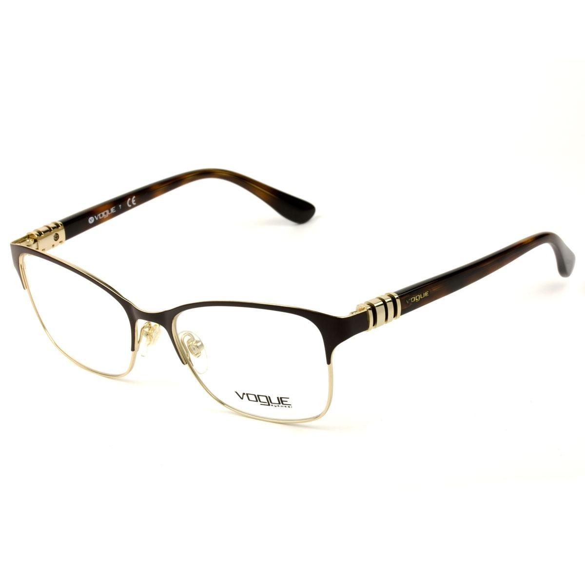 759a6eba7c5af armação para óculos de grau vo4050 997 marrom vogue. Carregando zoom.