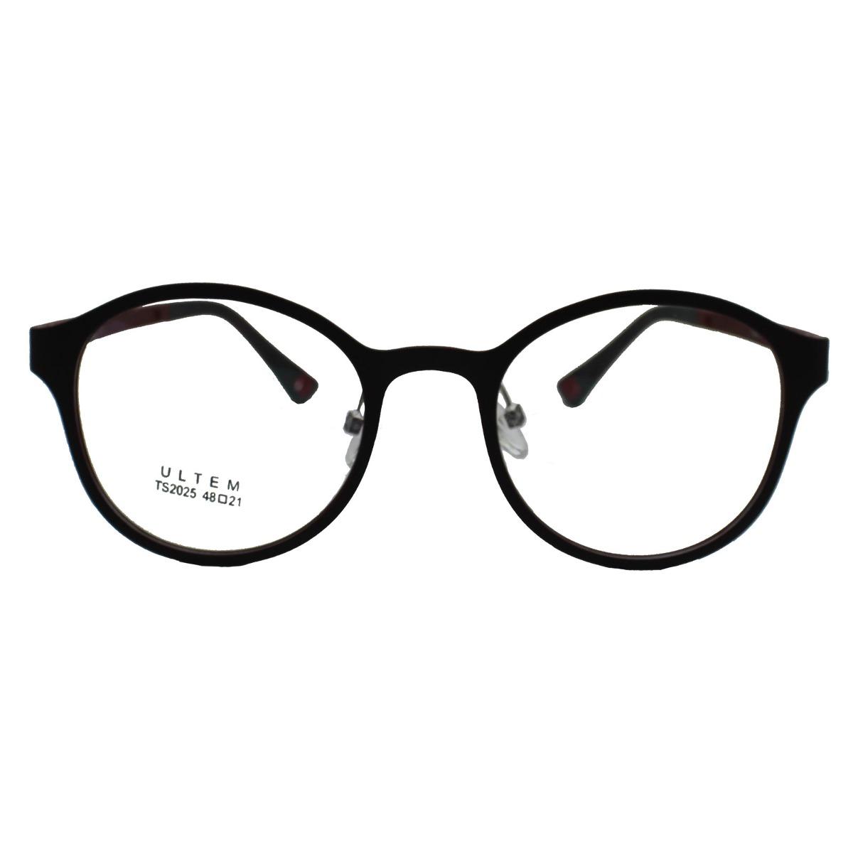 b5b3c6231cc12 Armação Para Óculos Díspar D1631 Vinho-arredondado-2018-grau - R ...
