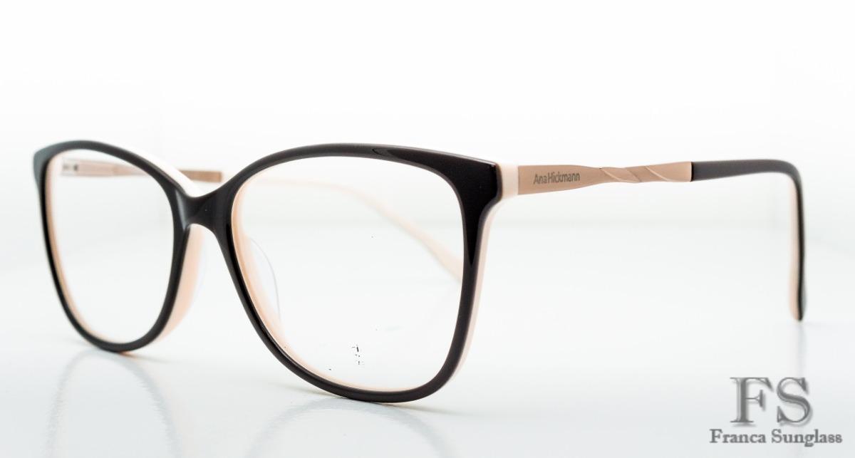 45148b1d0b0a5 Armação Para Óculos Grau Ana Hickman Acetato Original - R  120,90 em ...