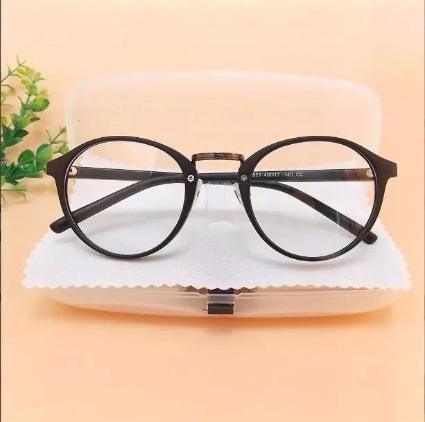 65dcef377 Armação Para Oculos Grau Estilo Retrô Masculino Feminino Cr - R$ 49 ...