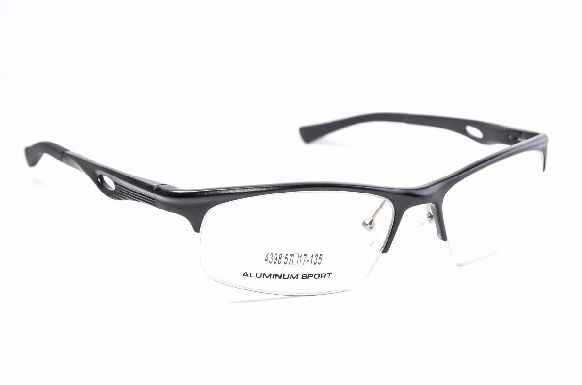 20ba319ef82 Armação Para Óculos Grau Masculino Preto Esportivo 4398 - R  129