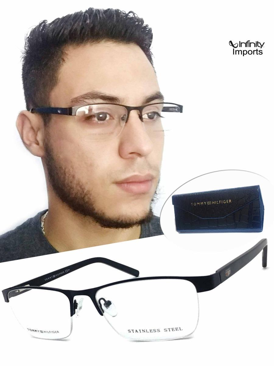 1bbed1884 armação para oculos grau masculino th2584 quadrado meio aro. Carregando  zoom.