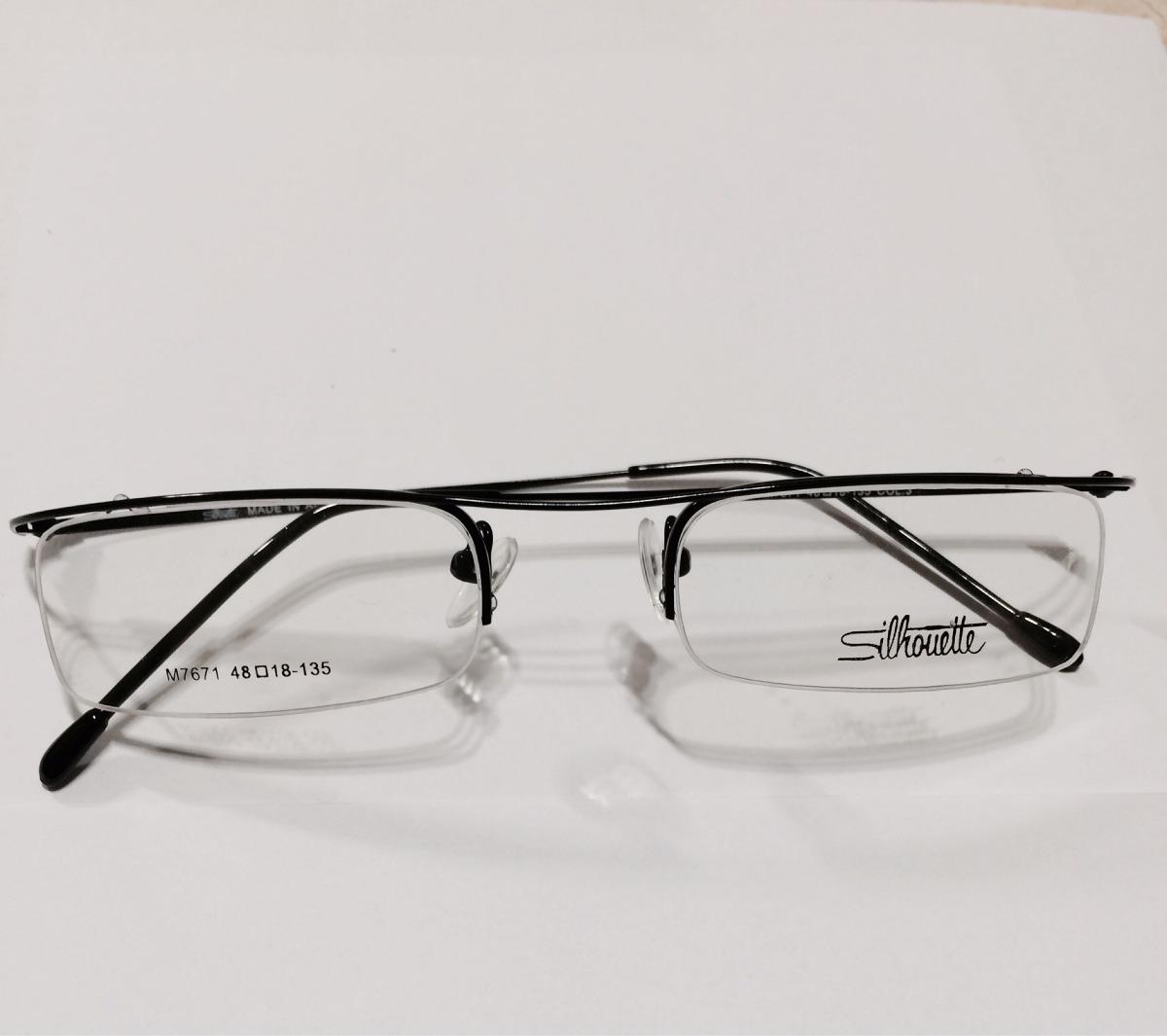 29532794417b3 armação para óculos grau sillouete meio aro preta. Carregando zoom.