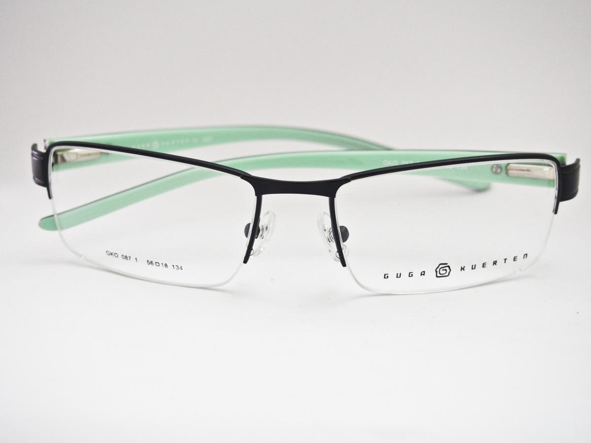 754bbd2bd65c6 armação para óculos guga kuerten esportivo preto e branco. Carregando zoom.
