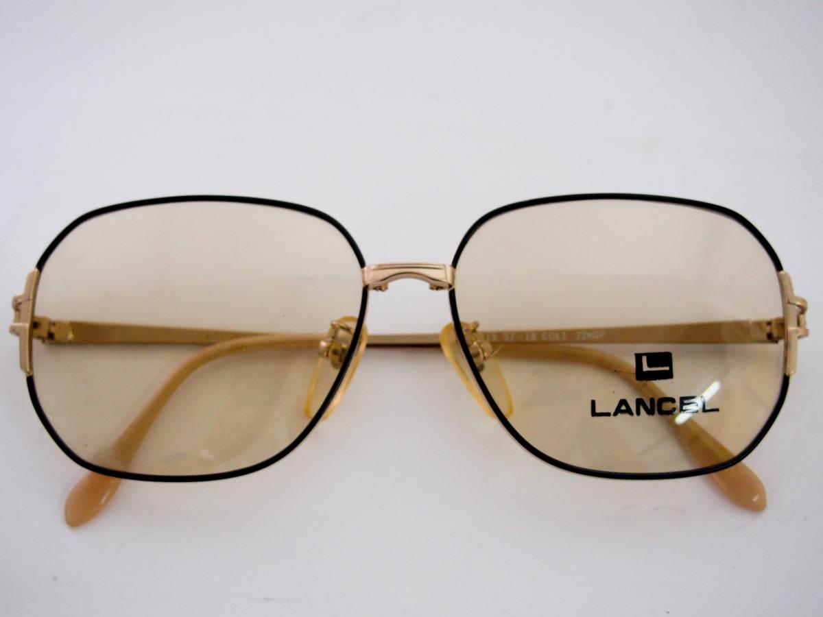 armação para óculos lancel preta retro vintage feminina. Carregando zoom. ab52564f87