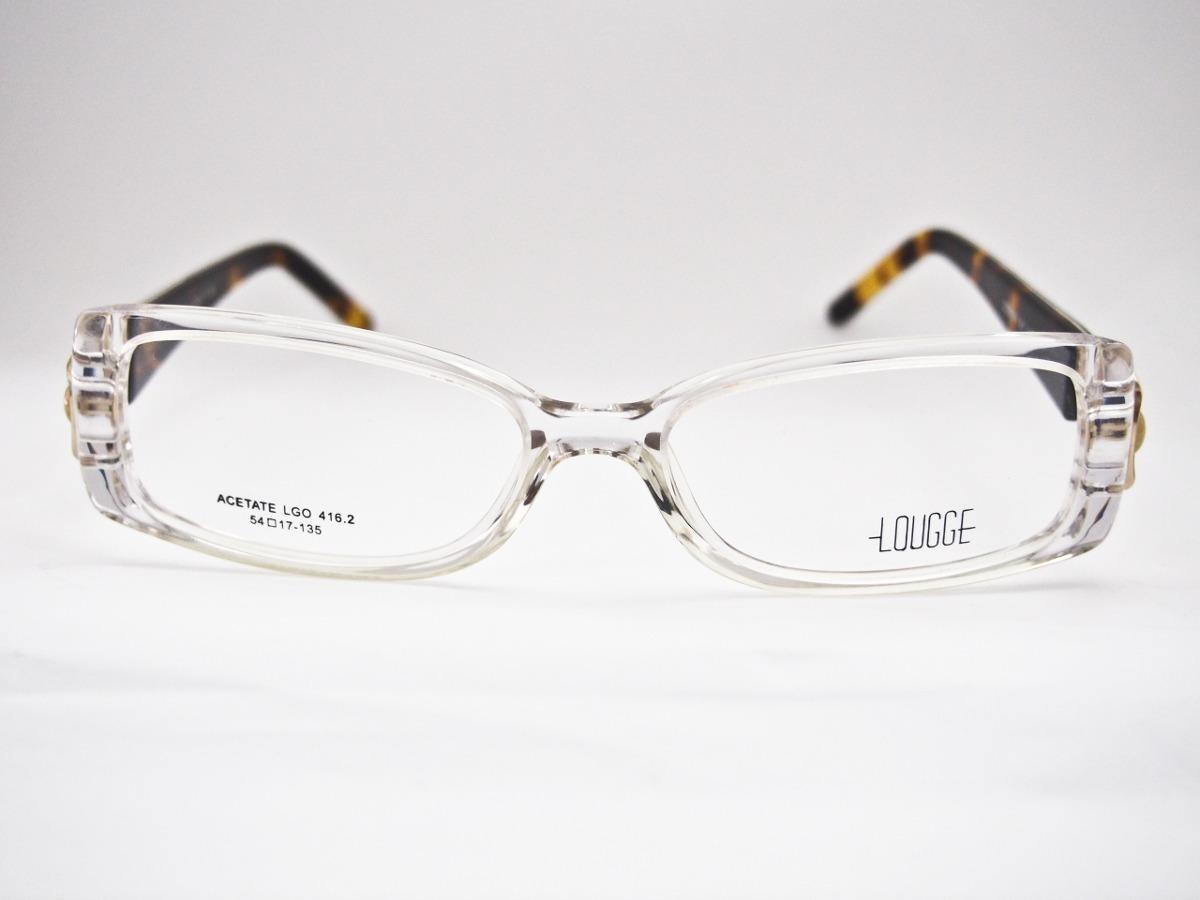 fc9f36839de3b armação para óculos lougge acetato transparente feminina. Carregando zoom.