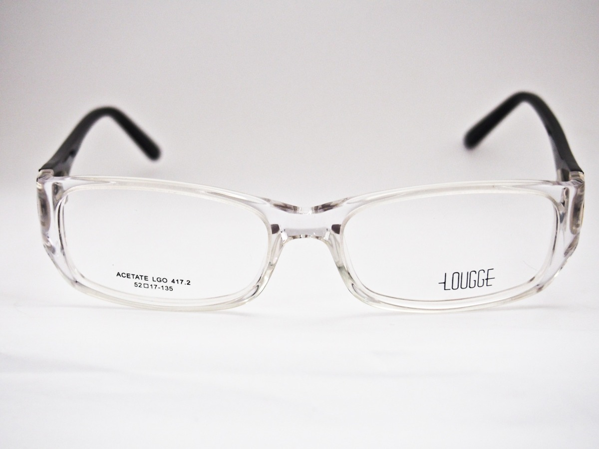 armação para óculos lougge acetato transparente feminina. Carregando zoom. 8db82e2f3f