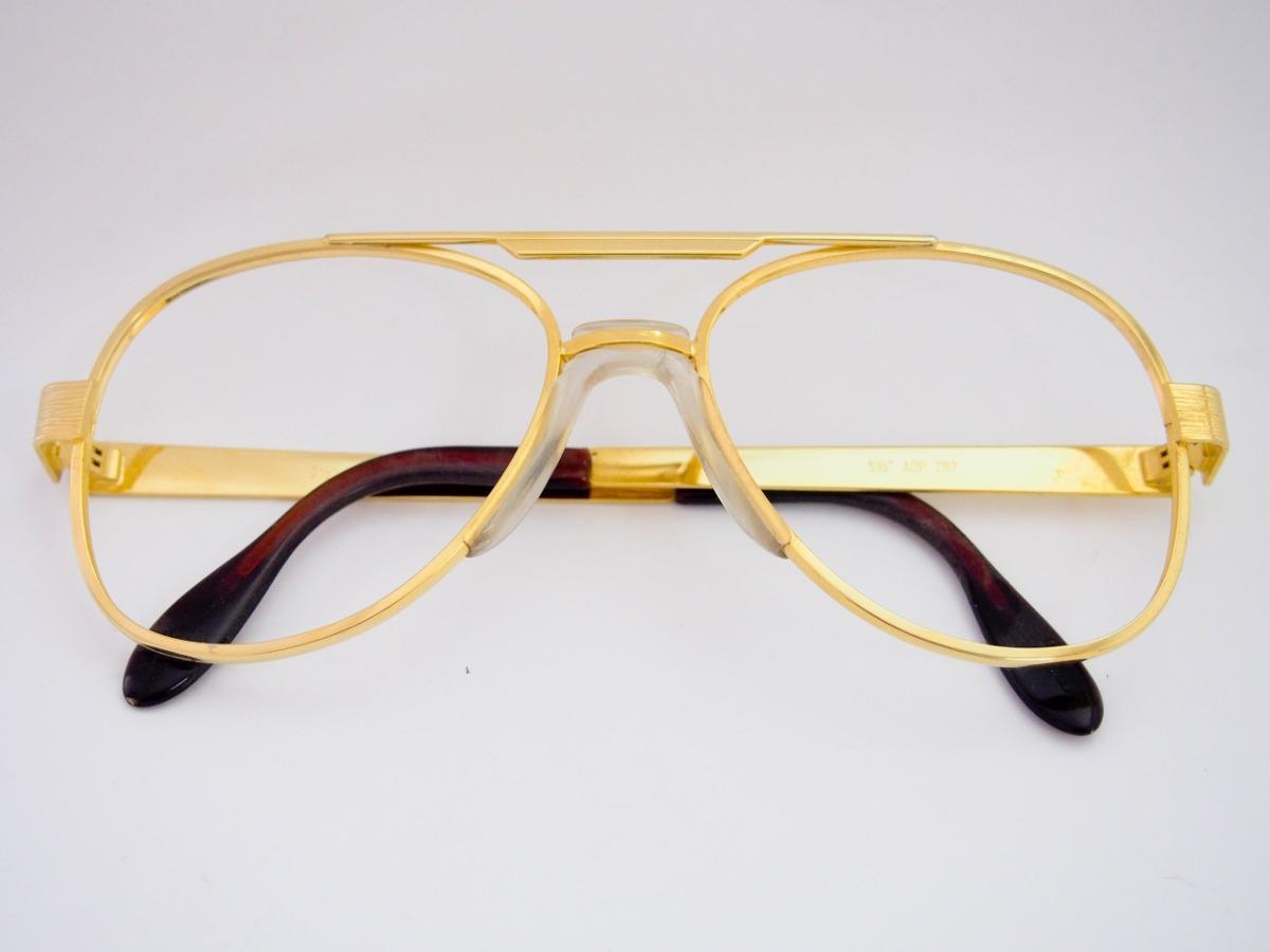 c1cc54c9f5178 armação para óculos metal dourada estilo aviador. Carregando zoom.