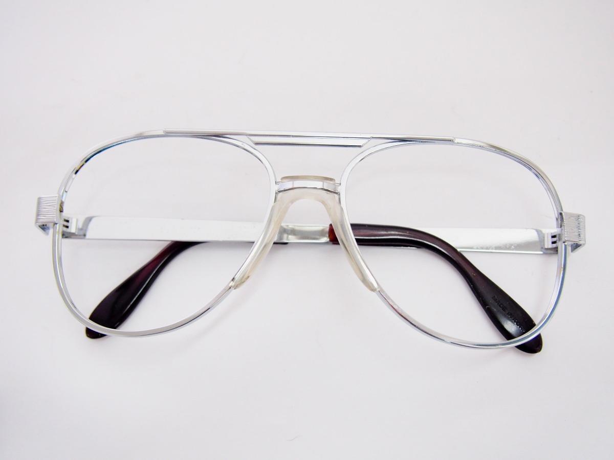 Armação Para Óculos Metal Prata Estilo Aviador Com Ponte Ant - R  20 ... ab70f8f3a4
